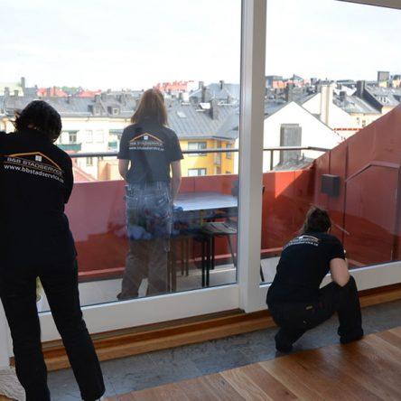 En fönsterputsning i Stockholm